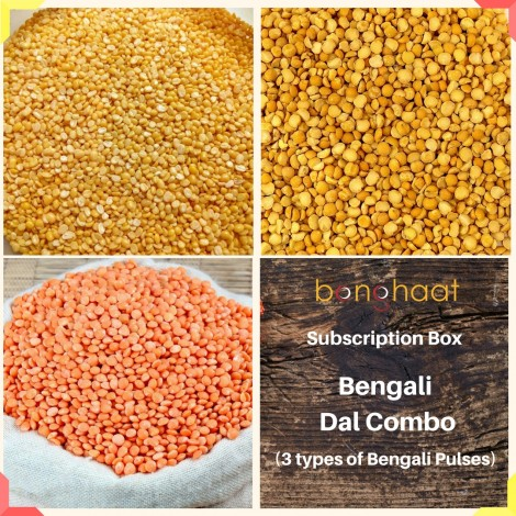 3 Months Subscription of Bengali Dal (Pulses) Combo (3 Types)