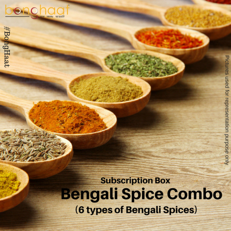 3 Months Subscription of Bengali Spice Combo (6 Spices)