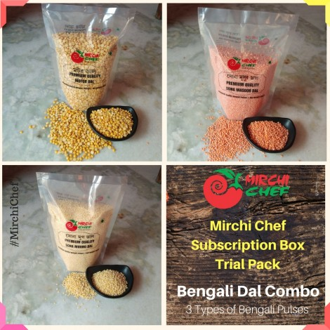Mirchi Chef's Trial Pack - Bengali Dal Combo (Pulses) (3 Types)
