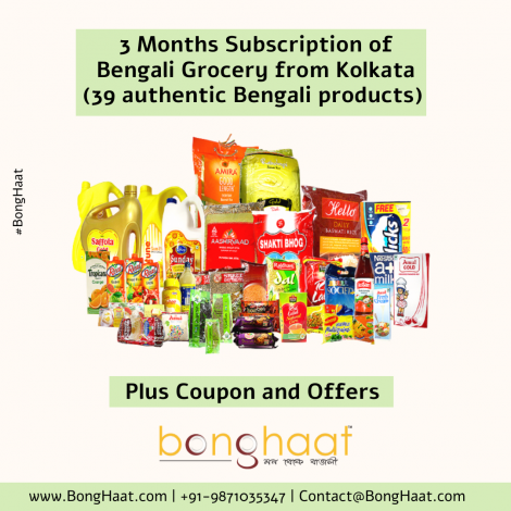 3 Months Subscription of Monthly Bengali Family Pack (39 Bengali grocery items)
