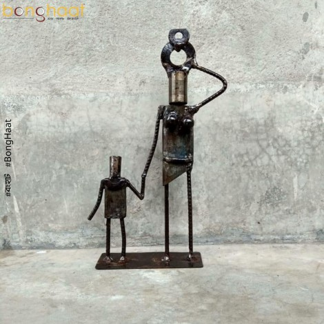 Scrap Metal Art : Mother and Child