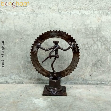 Scrap Metal Art Nataraj (Bold)