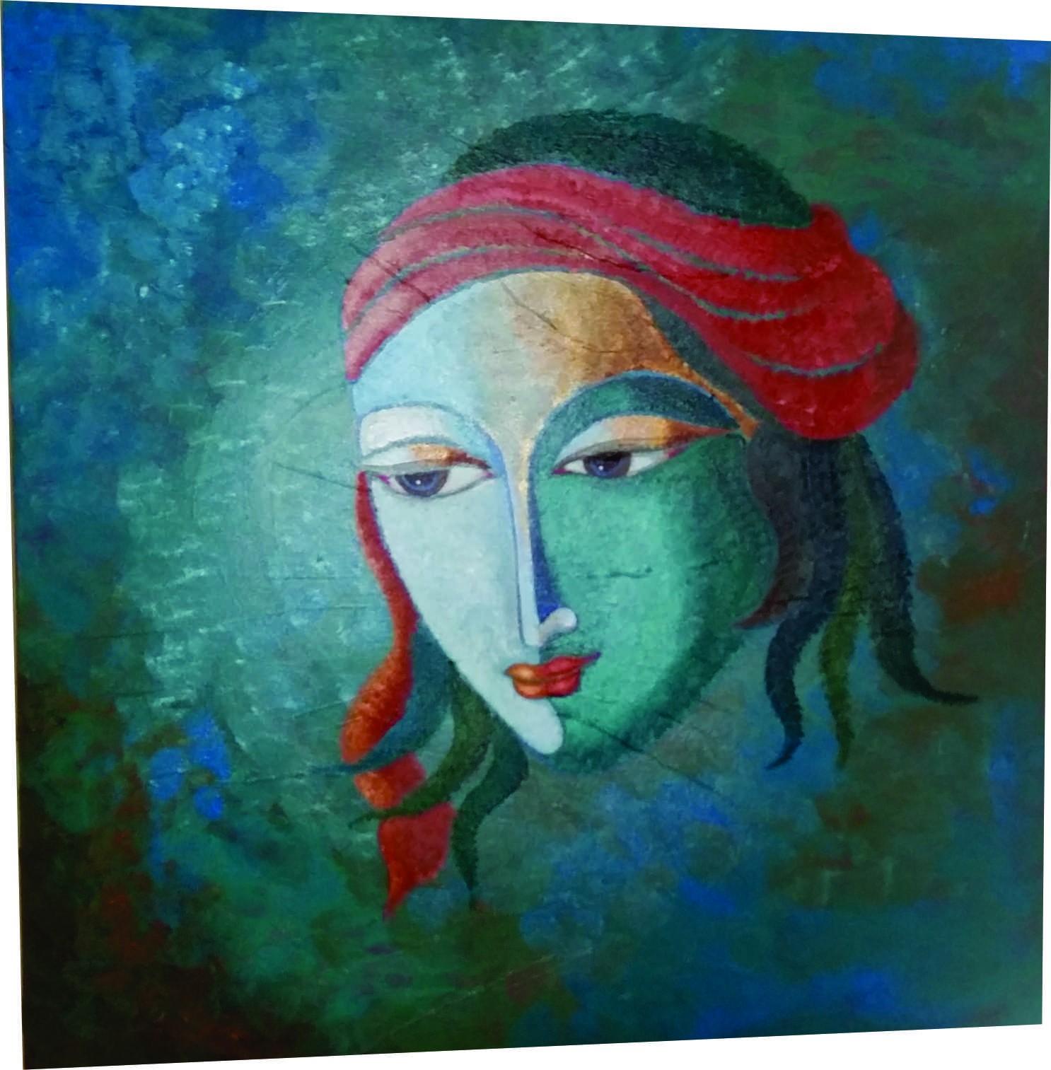 Buy Lord Krishna Canvas Paintings Online   Krishna Modern ...
