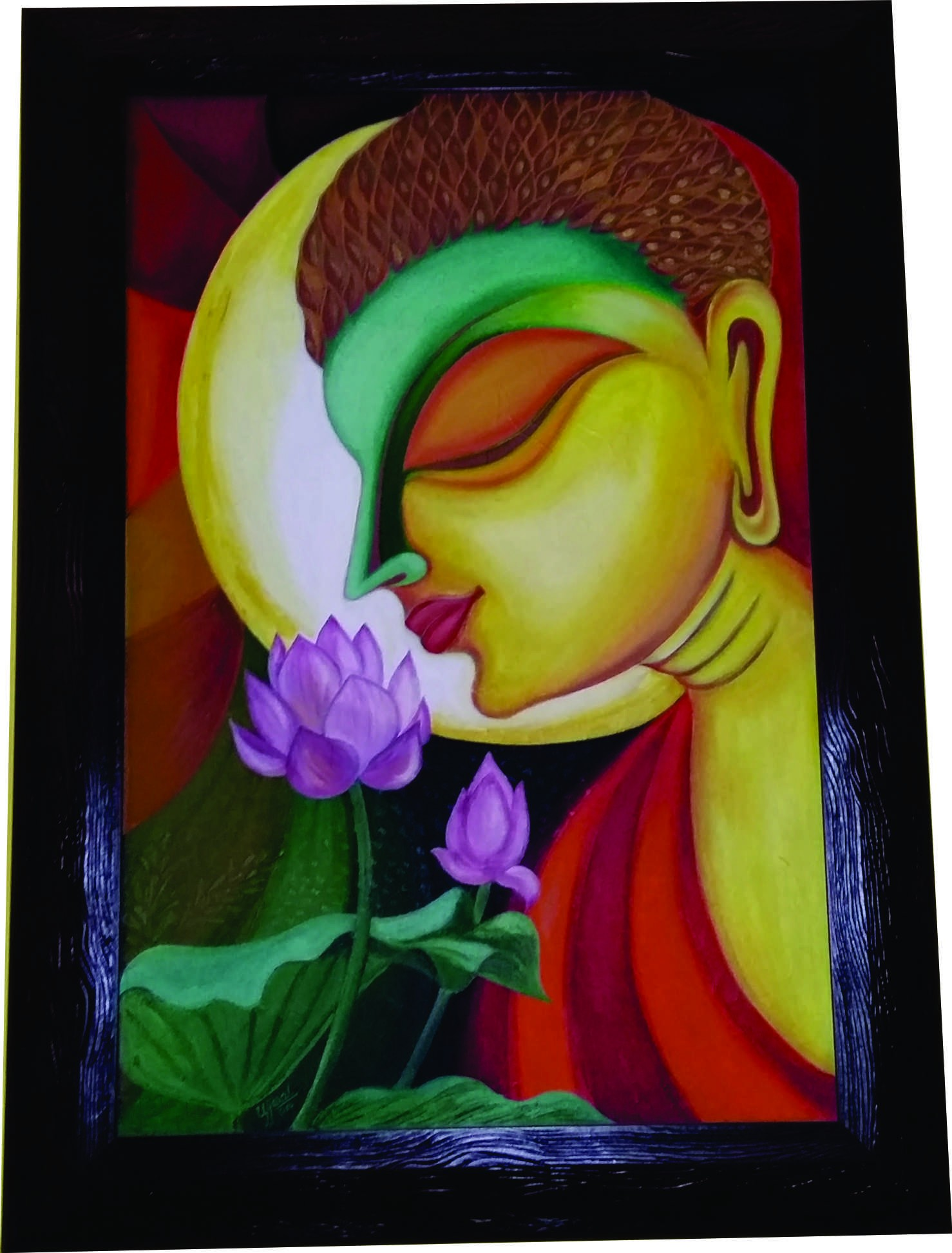 Lord Buddha Hand Painted Art