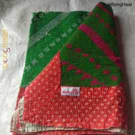 Hand woven Pure Cotton Kantha for Babies (RED & Green)