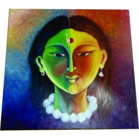 Radha Hand Paintings Modern Art