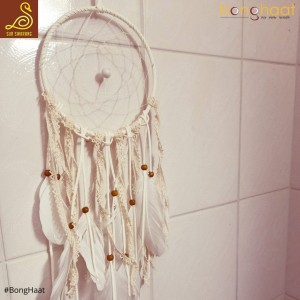 Handmade White Lace Dream Catcher