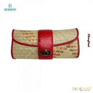 Ecstatic Leather with Sitalpati Clutch (Red)