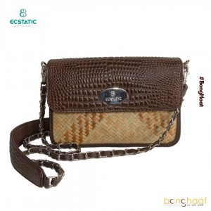 Ecstatic Leather with Sitalpati sling Bag (Brown)