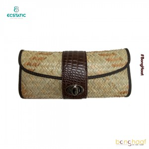 Ecstatic Leather with Sitalpati Clutch (Brown)