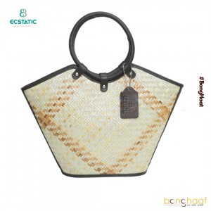 Ecstatic Leather with Sitalpati Hand Bag (Brown)