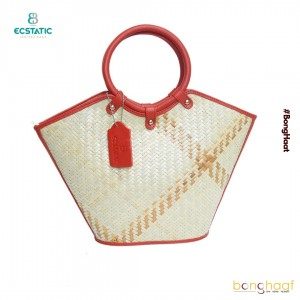 Ecstatic Leather with Sitalpati hand Bag (Red)