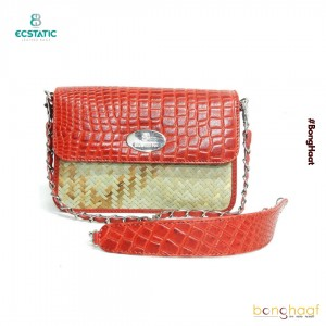 Ecstatic Leather with Sitalpati sling Bag (Red)