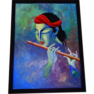 Lord Krishna Hand Painted Art