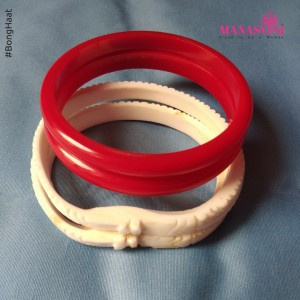 Manasvini Sankha Pola (Red) Combo (2.4 CM)