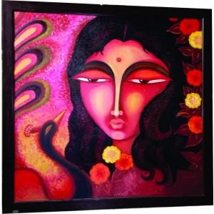 Radha Hand Paintings Modern Art