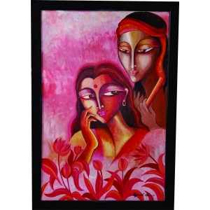Radha Krishna Canvas Paintings - Modern Art