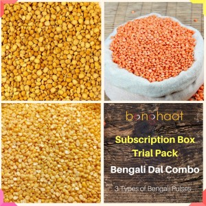 Trial Pack-Subscription Box- Bengali Dal (Pulses) (3 Types)