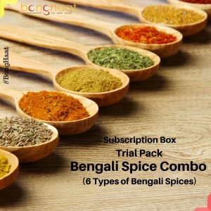 Trial Pack: Subscription Box- Bengali Spice Combo (6 Spices)