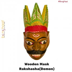 Hand Crafted Wooden Mask - Demon