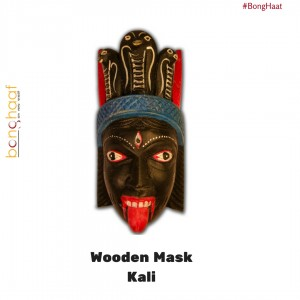 Hand Crafted Wooden Mask – Kali (Black)