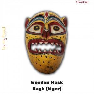 Hand Crafted Wooden Mask – Bagh (Tiger)