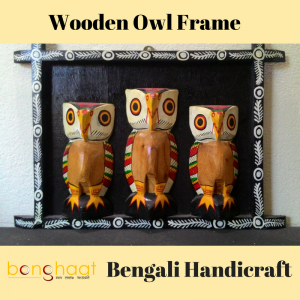 Wooden Owl Frame for Home Decoration