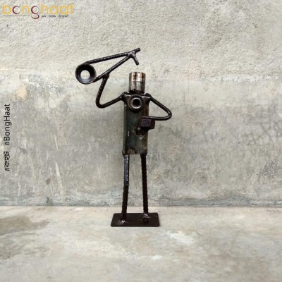 Scrap Metal Art : Baul Singer with Ektara